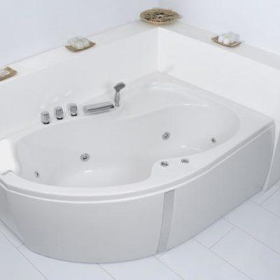 Unica Corner Whirlpool Bath
