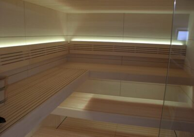 Soft sauna for private client in the north of Italy