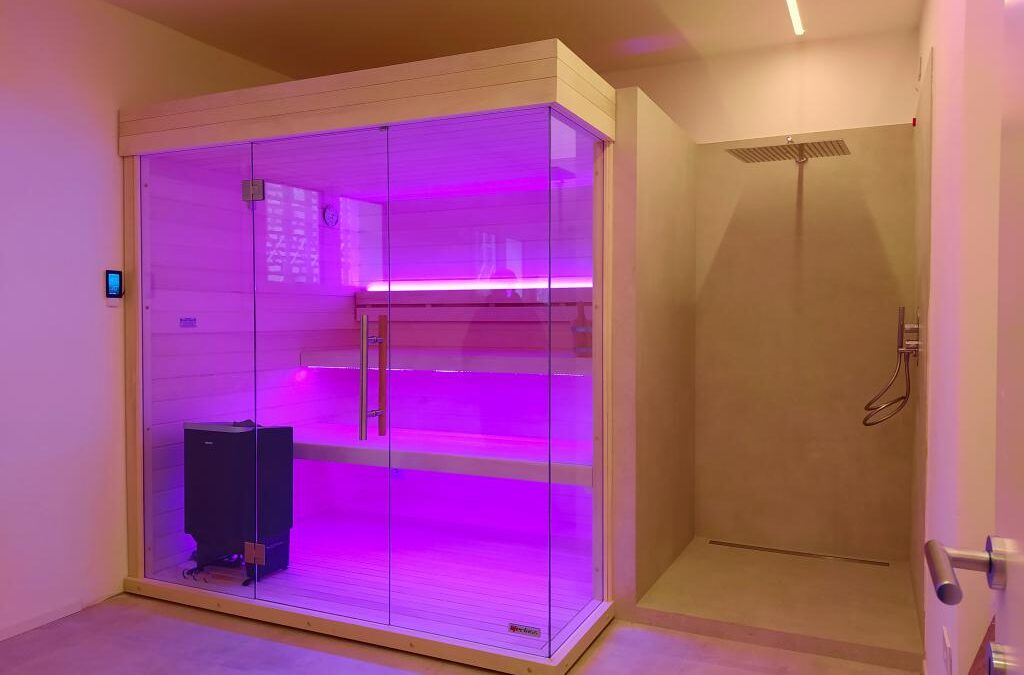 Aspen Combi Soft sauna with dry and wet heating system